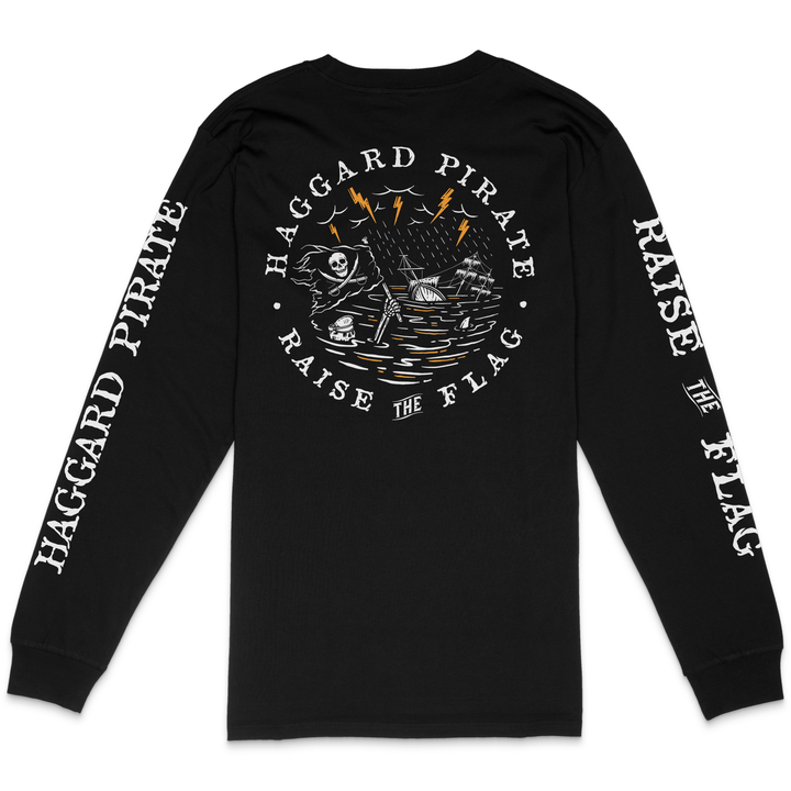 RAISE THE FLAG LONGSLEEVE - BLACK