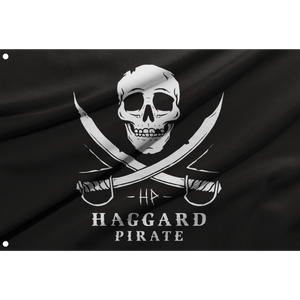 SKULL & SWORDS BOAT FLAG