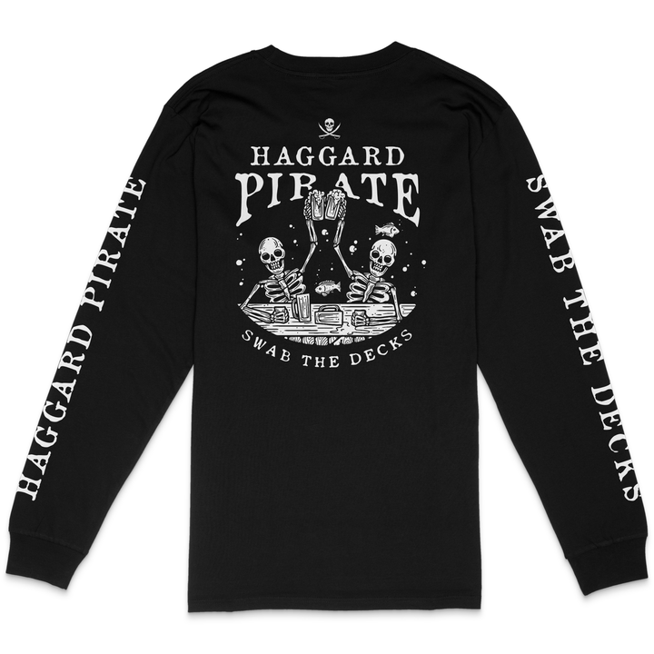 SWAB THE DECKS LONGSLEEVE - BLACK