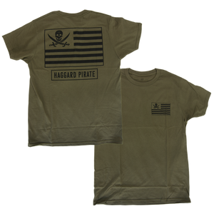 AMERICAN PIRATES TEE - MILITARY GREEN