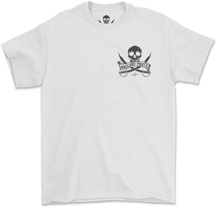 Haggard Pirate Ships Wheel design Captains Collection online exclusive front of shirt