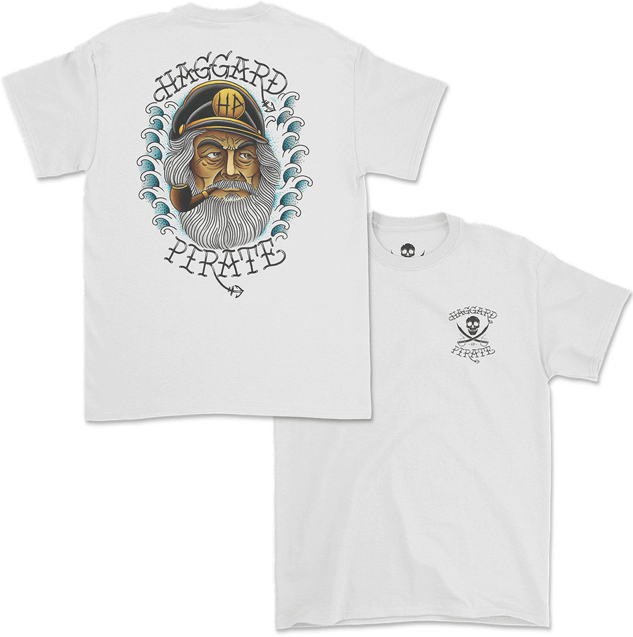 Haggard Pirate Old Salt design Captains Collection online exclusive front and back of shirt