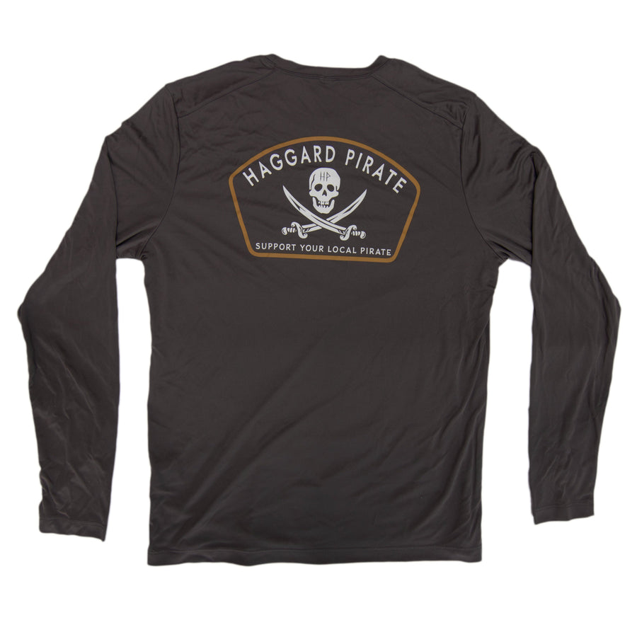 JOLLY ROGER TECH L/S - SMOKE GREY