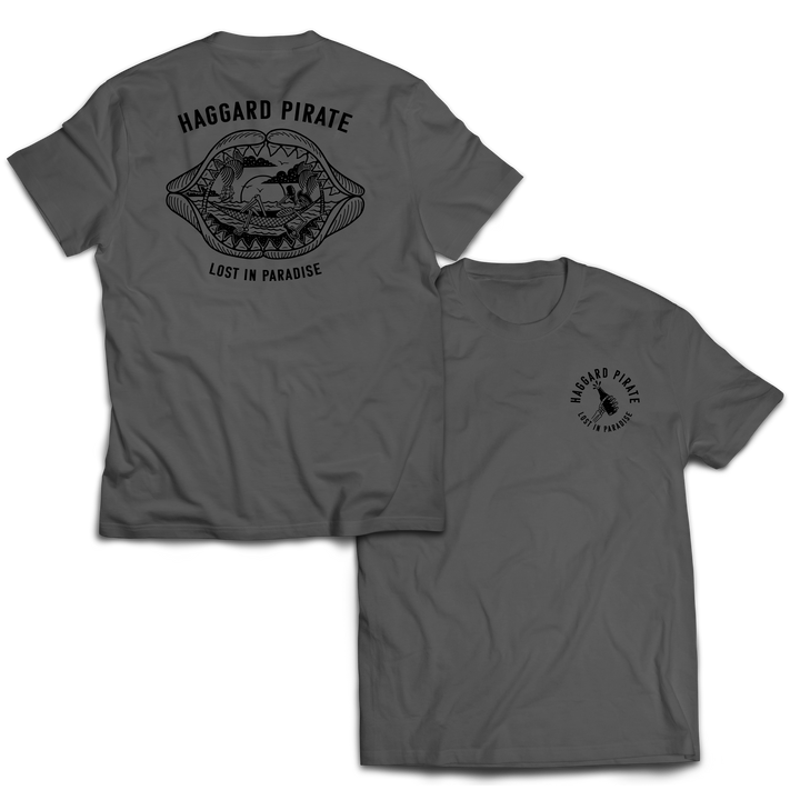 LOST IN PARADISE TEE - CHARCOAL