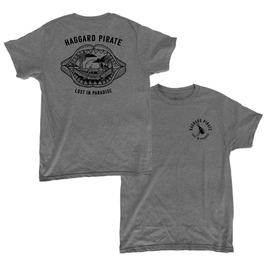LOST IN PARADISE TEE - HEATHER GREY