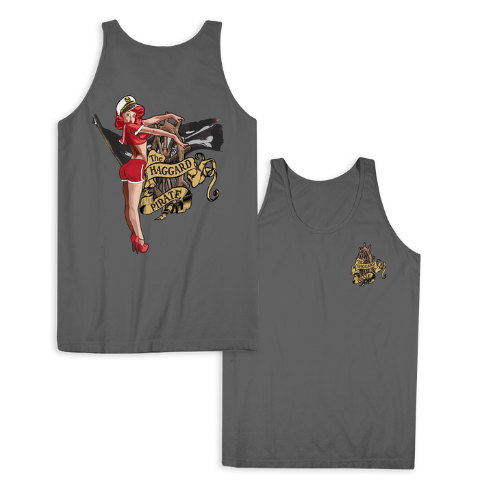 LUCKY CAPTAIN TANK TOP - CHARCOAL