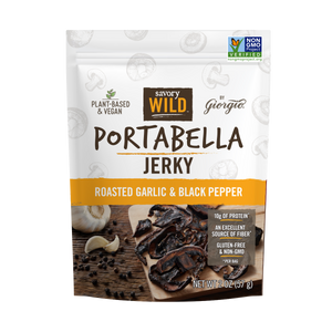 Roasted Garlic & Black Pepper Portabella Jerky - Giorgio Foods