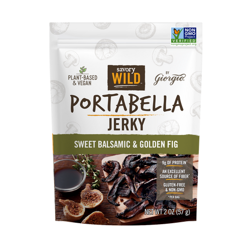 Sweet Balsamic & Golden Fig Portabella Jerky - Giorgio Foods