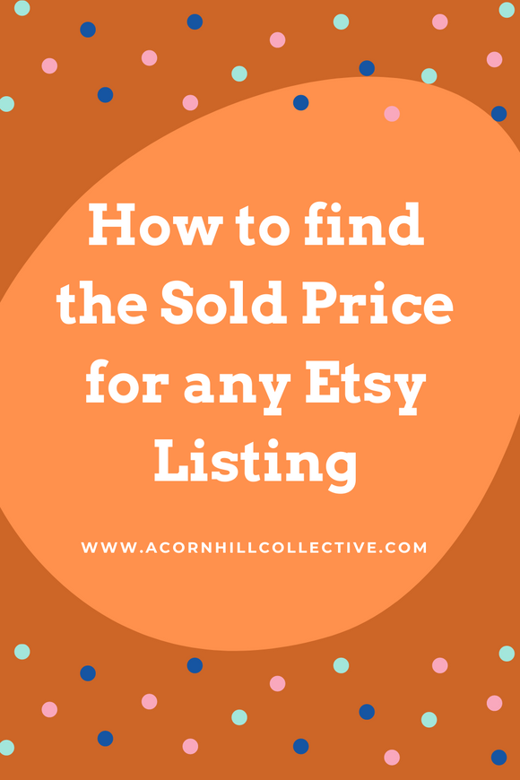how to find the sold price for any etsy listing