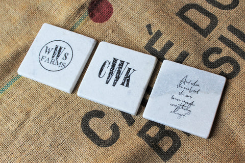 business logo coasters