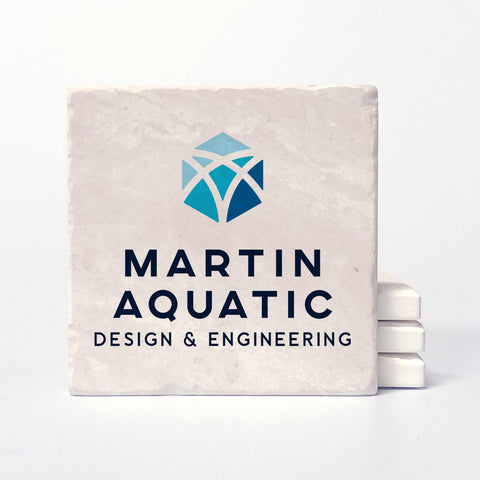 martin aquatic custom drink coasters