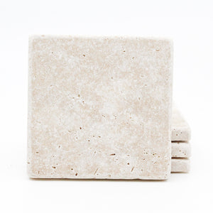 Plain Travertine Drink Coasters