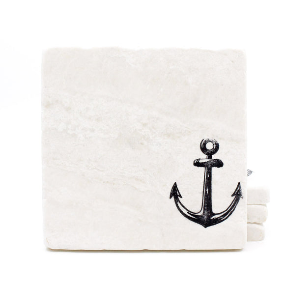 Anchor Marble Drink Coasters