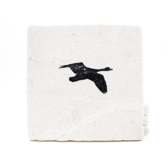 Goose Hunting Marble Drink Coasters