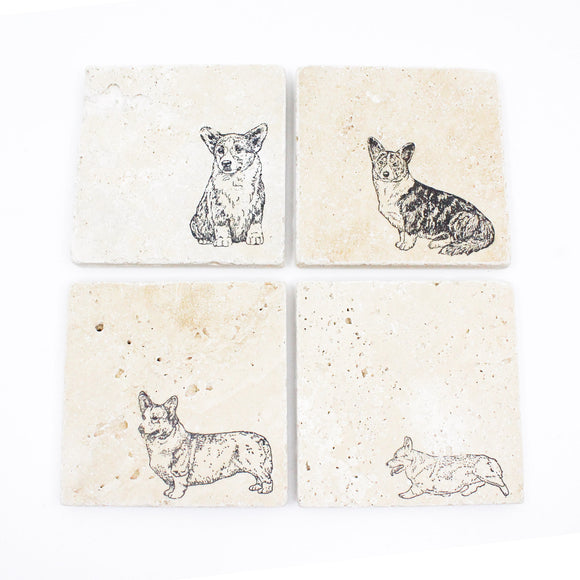 Corgi Dog Drink Coasters