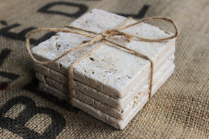 1 Travertine Coaster - replacement