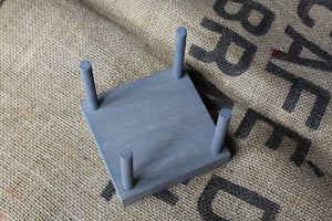 Driftwood Gray Wood Drink Coaster Holder