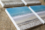 Rustic Beach Marble Drink Coaster