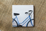 Blue Bike Marble Drink Coasters