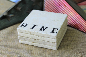 Wine Travertine Drink Coasters