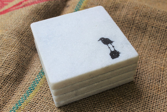 Seagull Marble Drink Coasters
