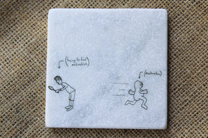 Funny Motivational Marble Drink Coaster