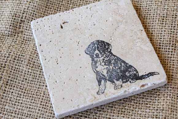 Golden Retriever Coasters - Set of Four , Dog Drink Coasters, Golden Retriever Gifts, Pet Loss Gift