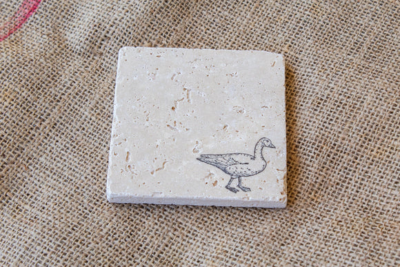 Goose Drink Coasters - set of four, Farm Animal Coasters, Geese Coasters, Pet Gifts, Fall Decor, Farm House Style