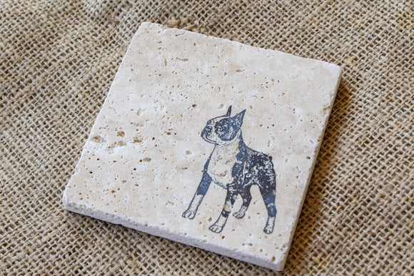 Boston Terrier Coasters - Set of Four Boston Terrier Gifts