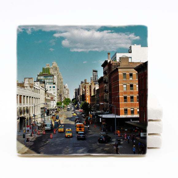 New York City Marble Drink Coaster (Version 2)