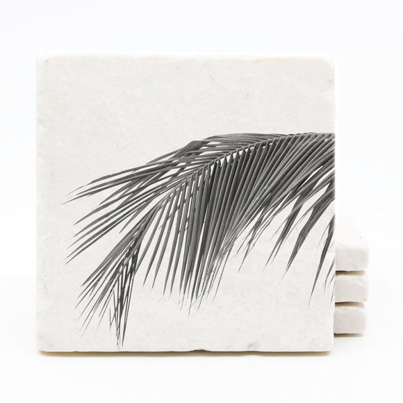 Palm Tree Marble Drink Coasters (Version 3)