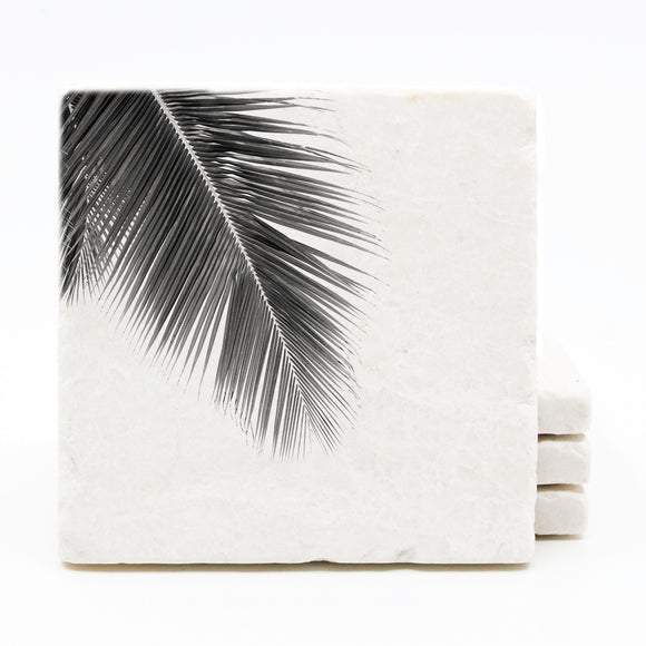 Palm Tree Marble Drink Coasters (Version 4)