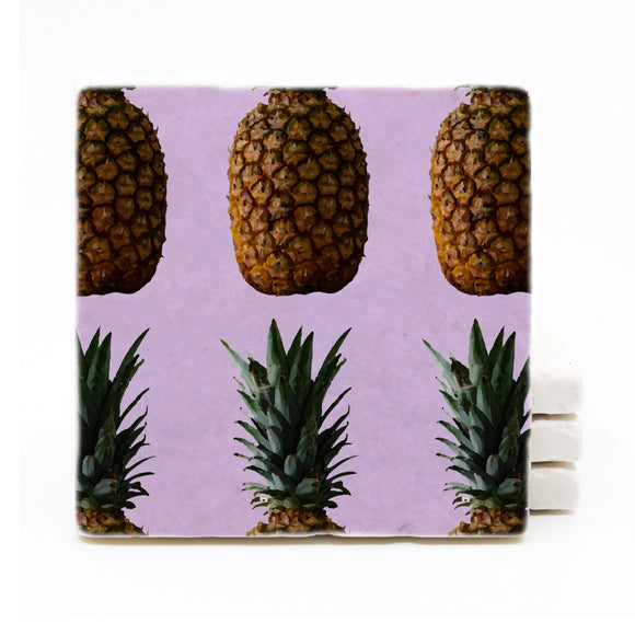 Purple Pineapple Coasters