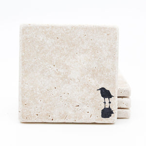 Seagull Travertine Drink Coasters