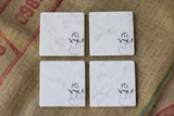 Snowman Marble Drink Coasters