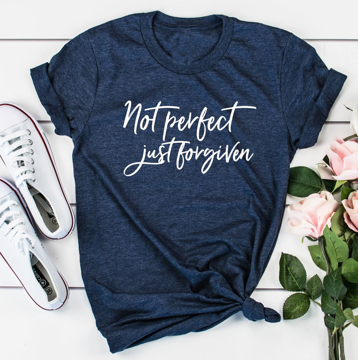 Not Perfect Just Forgiven Shirt | Faith Tee |