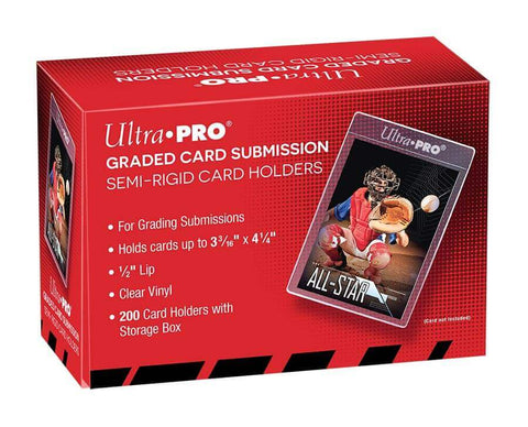 "Ultra Pro Card Sleeve - Semi Rigid 1/2"" Lip Tall Sleeves"