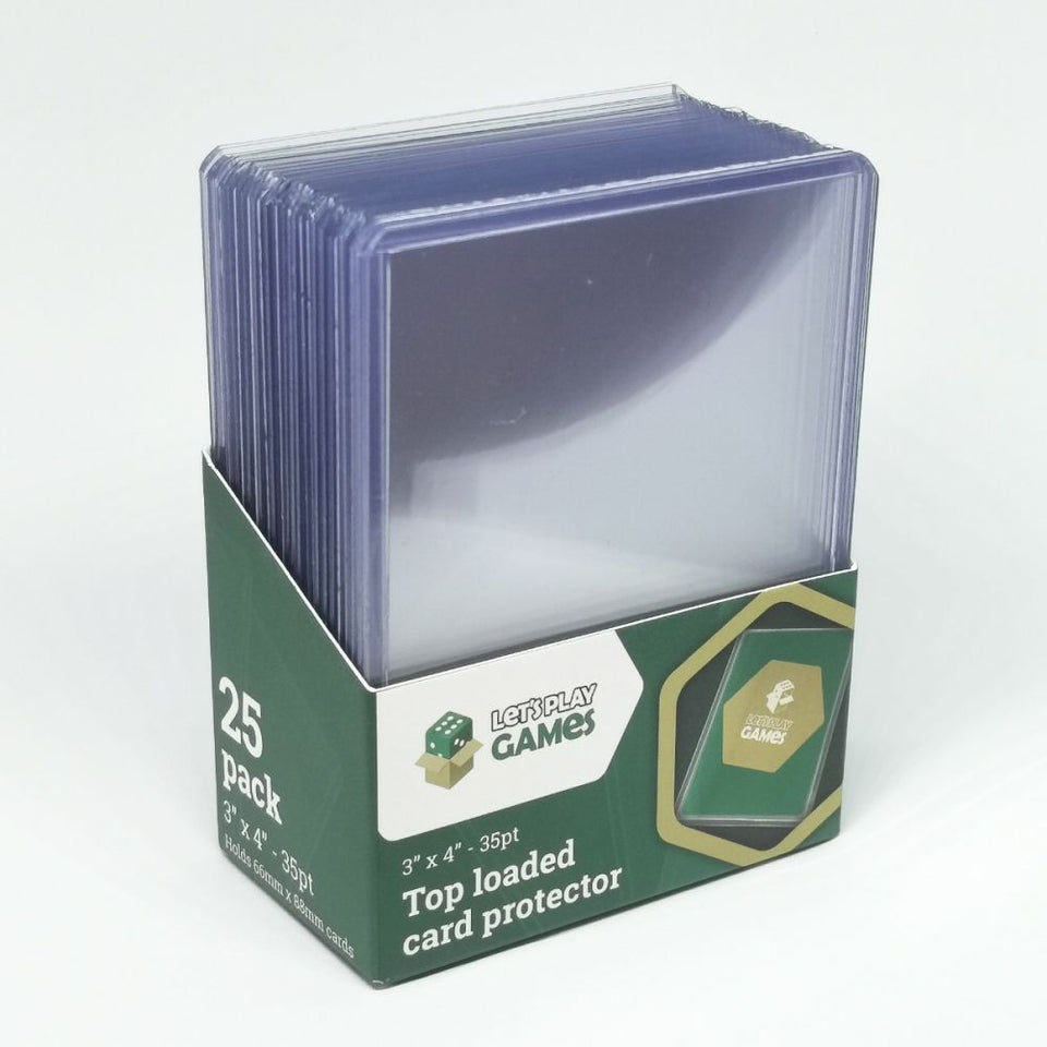 "Top Loaded Card Protector 3""x4"" (35pt)"