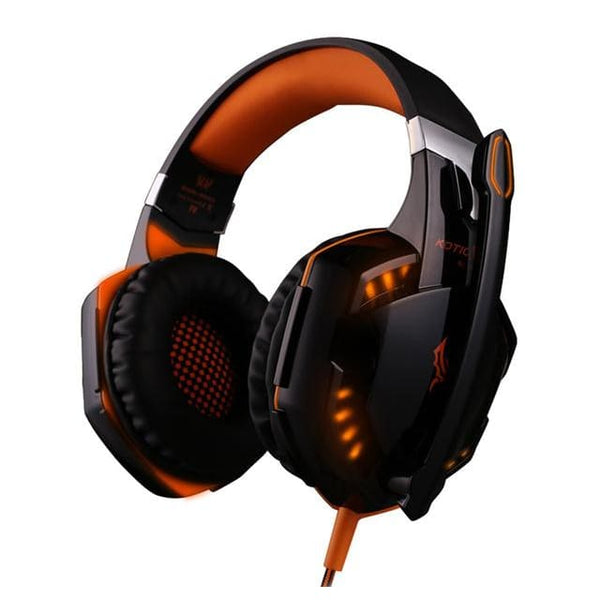 3.5Mm Gaming Headset With Microphone Led For Pc/ps4/xbox/mobile - Kotion Each - Orange