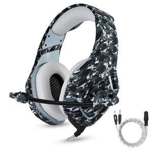 Camouflage Gaming Headset With Mic For Pc/ps4/xbox/mobile