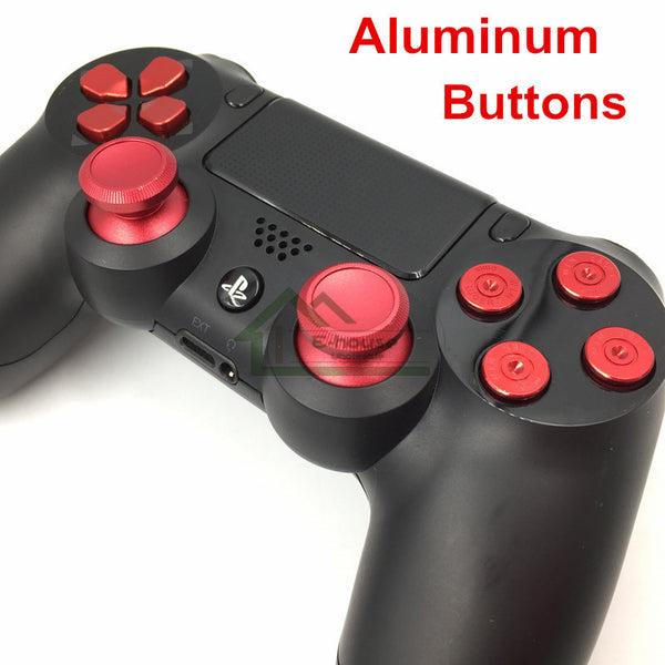 Custom Metal Thumb Sticks, D-pad and Bullet Buttons for PS4 Controller