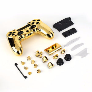 PS4 Controller Full Housing Shell with Full Buttons Mod Kit for PS4 Controller - Gold