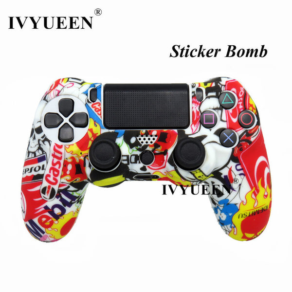 PS4 Silicone Protective Skin Case for PS4/PS4 Pro Slim Controller with Thunb Grips