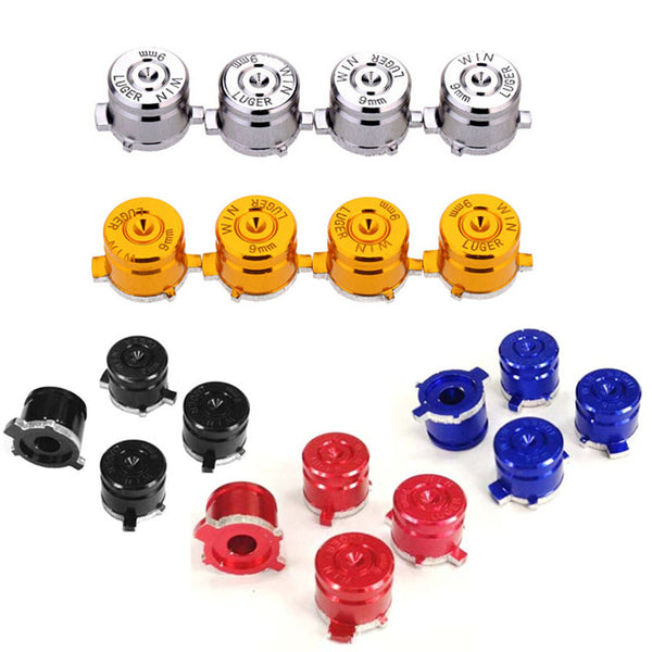 4 x Aluminum Bullet Buttons for PS3/PS4 Controller