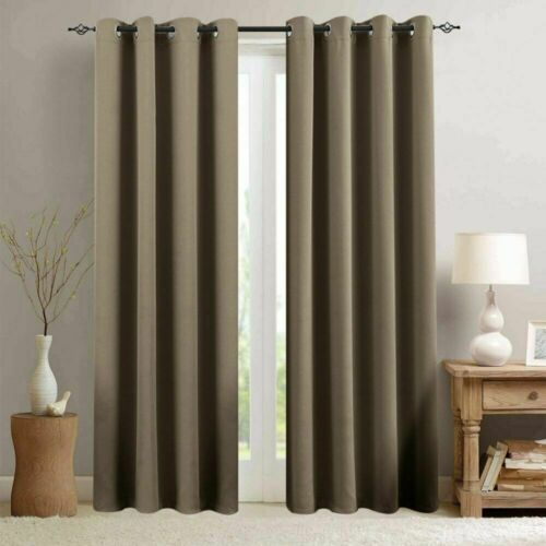 Room Darkening Curtain for Living Room Moderate Blackout Window Curtain 1 Panel