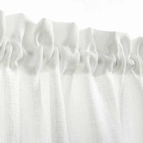 Tier Curtains Semi Sheer Short Curtains Kitchen Casual Weave Cafe Curtain 1 Pair