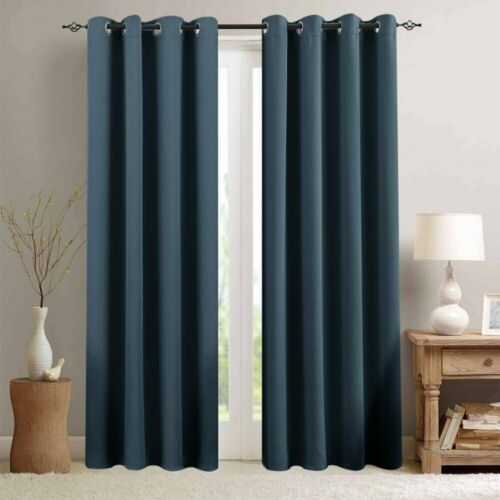 Room Darkening Curtains Window Treatment Blackout Drapes for Bedroom 2 Panels