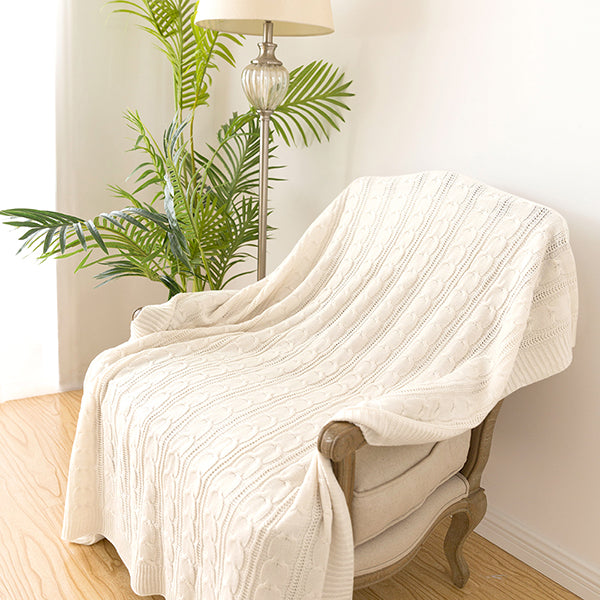 Jinchan Throw Blanket Gray Lightweight Cable Knit Sweater Style Year Round Gift Indoor Outdoor Travel Accent Throw for Sofa Comforter Couch Bed Recliner Living Room Bedroom Decor 50 x 60