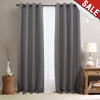 SKYE // Linen Textured Room Darkening Curtains With Grommet Top Design