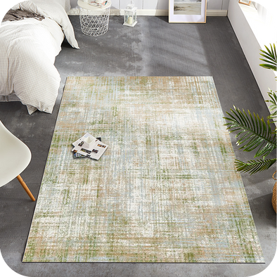 Low Pile Area Rug Modern Abstract Colorful Floorcover Indoor Mat for Living Room Kitchen